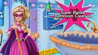 NEW Игры для детей—Disney Принцесса Супер Барби уборка—Мультик Онлайн видео игры для девочек