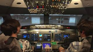 Homemade 737 simulator KMEM to KDFW Live Stream Cut