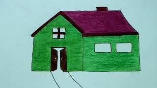 How to draw a House/Home !! How to make a House Drawing Cartoon