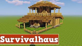 Wie baut man eİn Survival Haus in Minecraft   Minecraft Survivalhaus Bauen