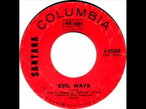 Santana  Evil Ways, Mono 1969 Columbia 45 record