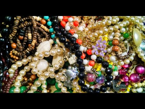 ASMR Rummaging Through Jewelry (whispering, tapping, beads rubbing together & more)