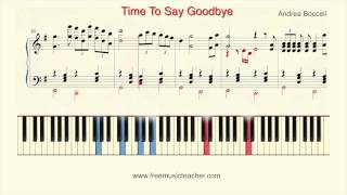 "How To Play Piano: Andrea Bocelli ""Time To Say Goodbye"" Piano Tutorial by Ramin Yousefi"
