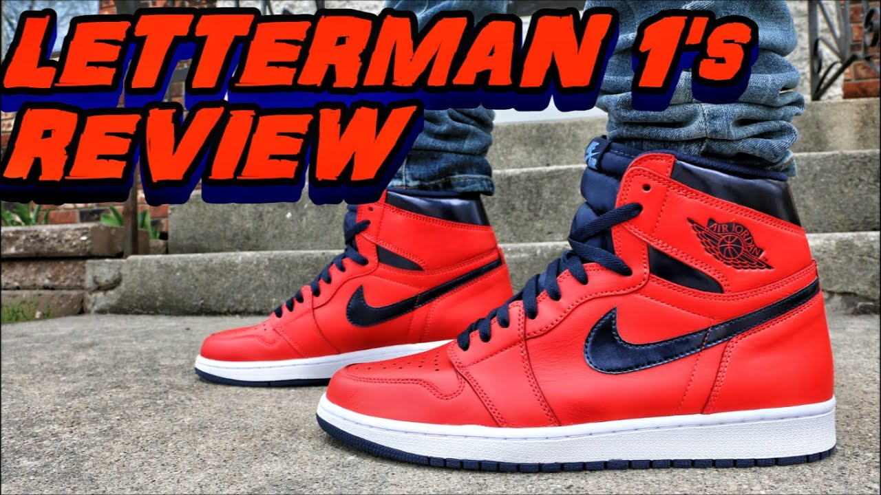 96b1d63e657d Air Jordan 1 High OG Letterman - Review + On Foot - YouTube