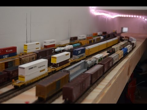 Constructing the Staging Yard for the Sayrehurst Secondary N Scale Model Railroad
