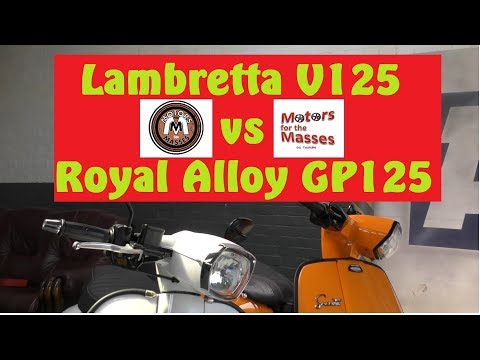 Lambretta V125 Special Vs Royal Alloy GP125