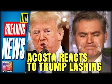 BREAKING: Watch Jim Acosta CRY on CNN With Wolf Blitzer Seconds After Trump Tears Him Apart