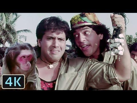 'Bade Kaam Ka Bandar' Full 4K Video Song - Govinda, Chunky Pandey   Kumar Sanu   Aankhen