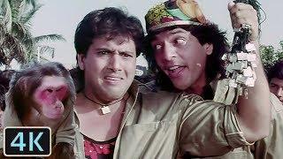 'Bade Kaam Ka Bandar' Full 4K Video Song - Govinda, Chunky Pandey | Kumar Sanu | Aankhen