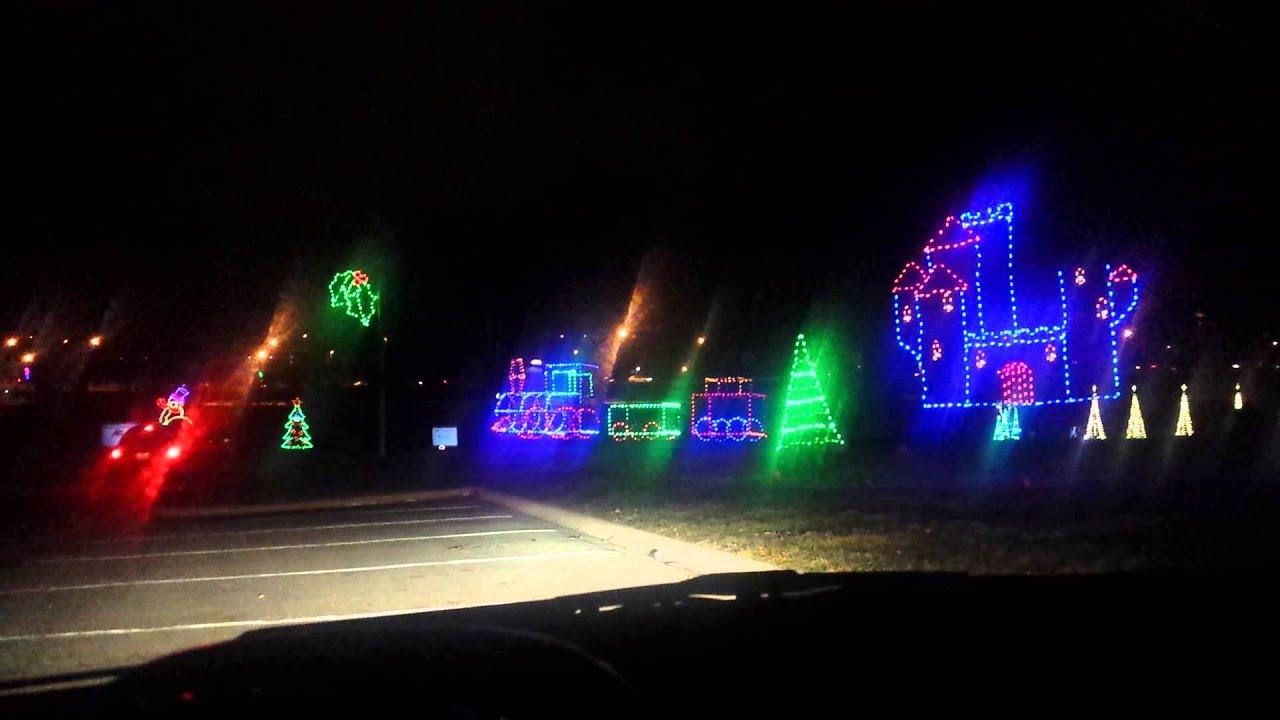 Olin park Christmas lights - YouTube