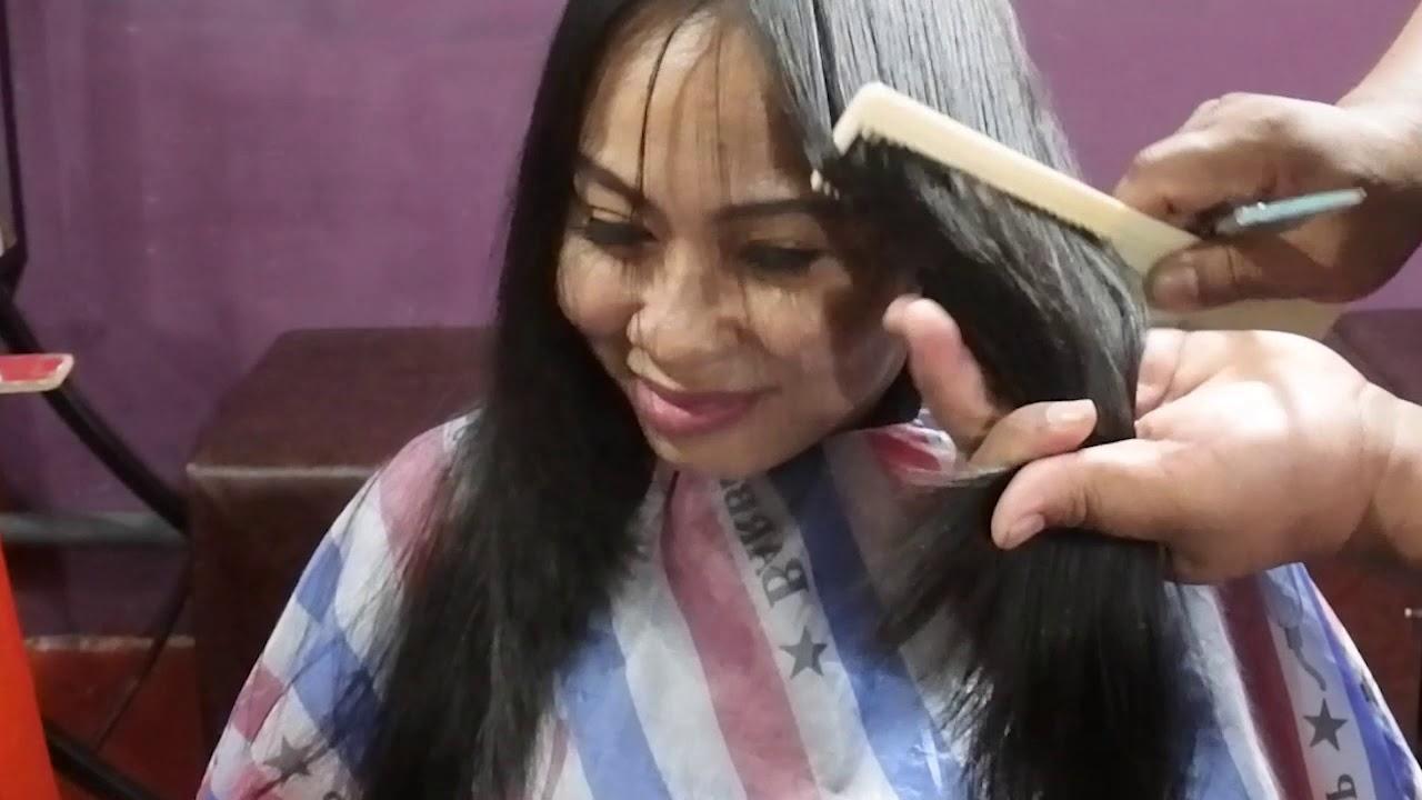 Potong Rambut Model Layer Panjang Yang Seksi Dan Elegan Long Layer Cutting Tutorial Youtube