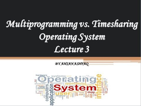 Multiprograming vs Time sharing OS