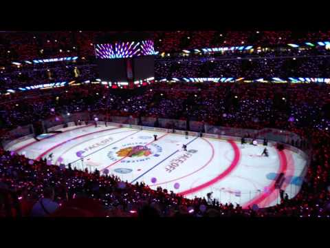 Chicago Blackhawks 2015 Opening Light Ceremony