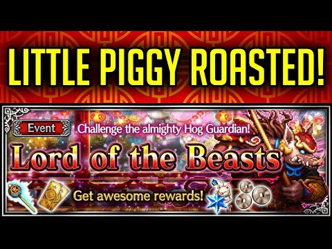 The Lord Of The Beast Trial Guide! Hog Guardian Gets Roasted! - [FFBE] Final Fantasy Brave Exvius
