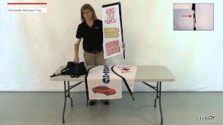 Mobile Marketing Backpack Flag - Rectangle Flag
