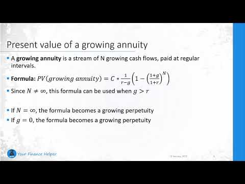 Present Value Of A Growing Perpetuity And A Growing Annuity