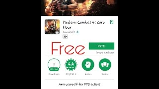 How to download and install Modern Combat 4 Zero Hour on android for free