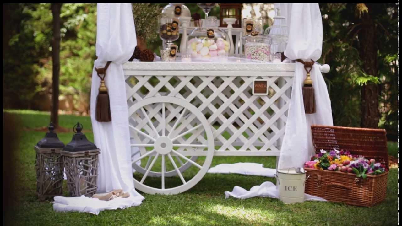 Vinta Candy Cart