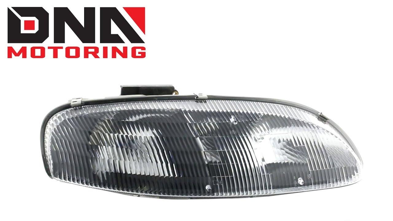 Dna Motoring 95 01 Chevy Lumina 99 Monte Carlo Black Clear Headlights