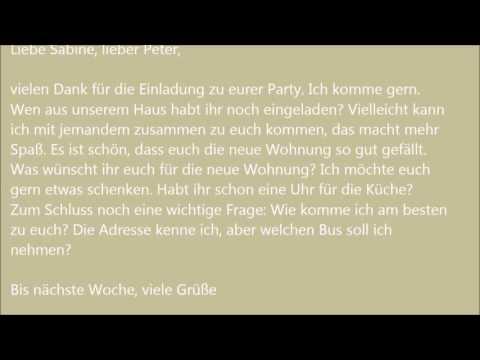 Deutsche Brief A1 A2 B1 Prüfung 7
