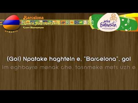 "[2009] Luara Hayrapetyan - ""Barcelona"" (Armenia) - Karaoke version"