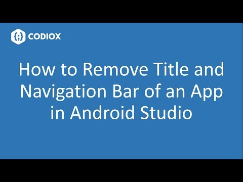 How to Remove Title Bar and Navigation Bar Programmatically
