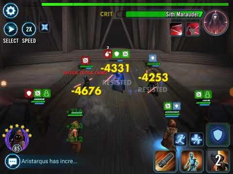 Sith Raid Tier 5  Full Jawa Team