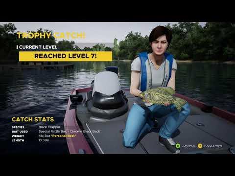 BLACK CRAPPIE  FISHING SIM WORLD  PC GAME  GIRL FISHING A33  