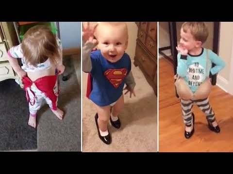 Funny Kids Wearing Parents Clothes -  Compilation 2019