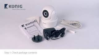 SAS-CLALIPC10 - Pan tilt WiFi camera 720p installation iOS - ENG