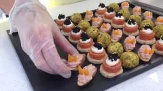 Canapes on presentation tray by Ideal Party