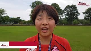 Japan Womens Rugby Trainning Sinhala