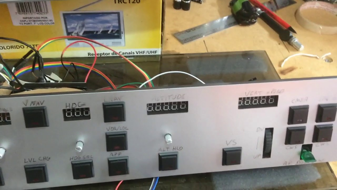 Arduino Mobiflight MCP/AP general auto pilot - SIMULAR É