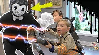 Ghostbusters vs Bendy and the Ink Machine (Kids Skit)