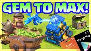 Clash of Clans Town Hall 12 GEM TO MAX!