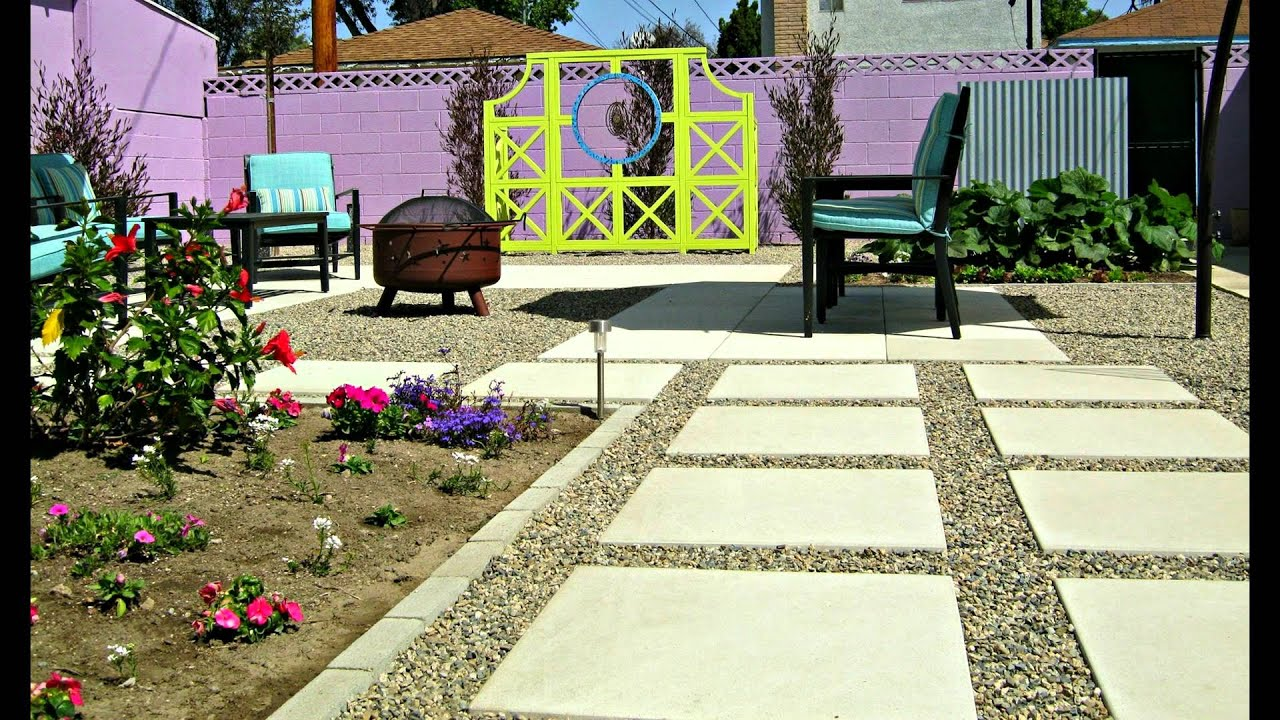 My concrete backyard makeover, beautiful patio, before and ...