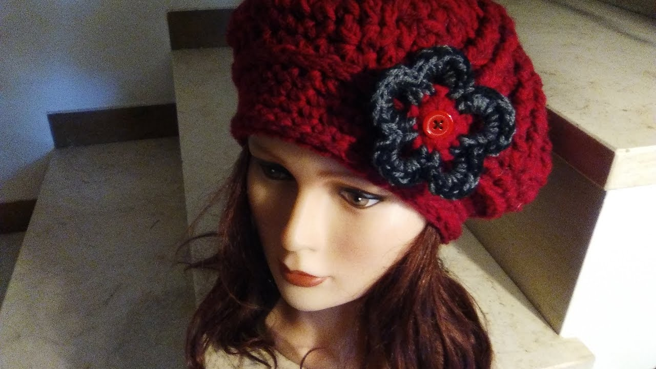 Crochet Beret Hat Easy Tutorial Step By Step Youtube