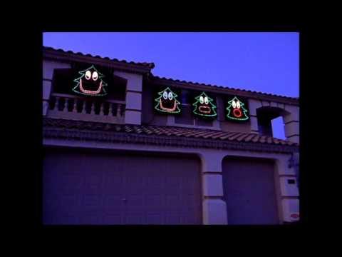 2012 Christmas Light Show - Singing Christmas Trees - Christmas ...