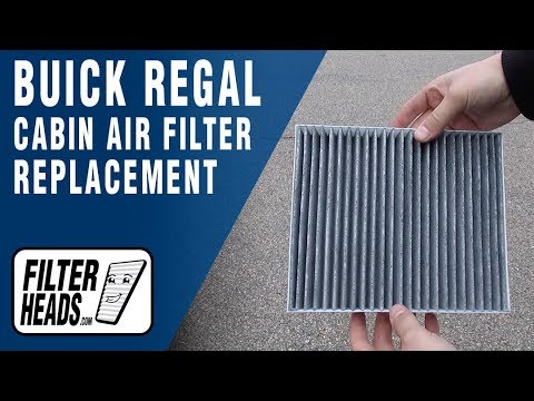 How to Replace Cabin Air Filter 2017 Buick Regal