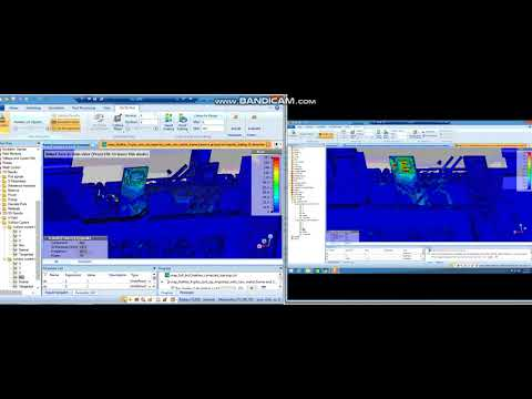 Dock transmitting dock view (with and without the absorber)