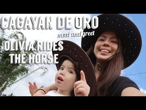 Cagayan De Oro Meet and Greet + Olivia rides the horse | Andi Manzano