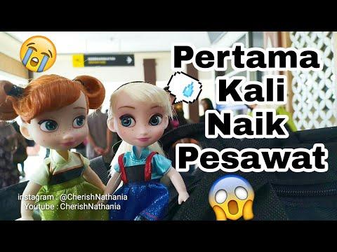 Barbie Princess Anna Elsa Frozen Liburan Naik Pesawat 😍 Cerita Mainan Boneka Barbie Bahasa Indonesi