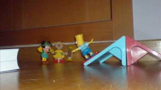 Bart Simpson haciendo skate