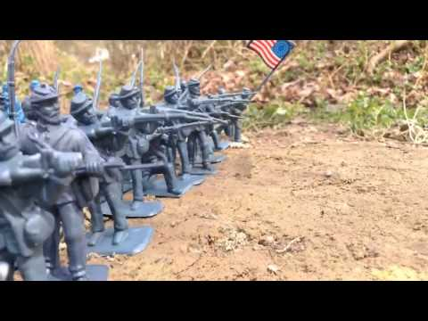 Civil War Stop Motion | Battle of Little Round Top