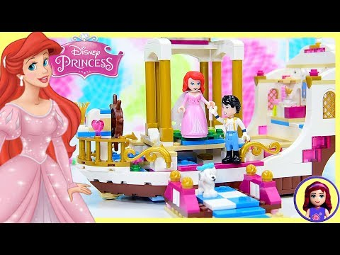 Lego Disney Princess Ariel's Royal Celebration Boat Build Silly Play