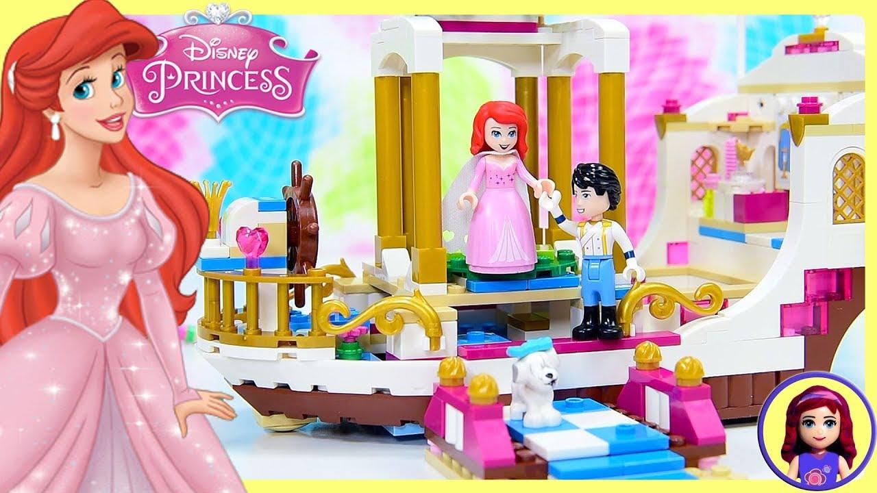 lego disney princess ariel s royal celebration boat build silly play rh youtube com