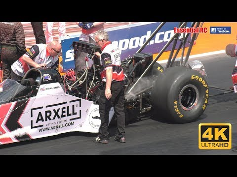SMOKING Burnouts And AWESOME Races At Santa Pod FIA MAIN EVENT 2017 Compilation [*UltraHD & 4K*]