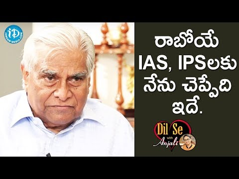 K Padmanabhaiah Gives A Message To IAS & IPS officers || Dil Se With Anjali