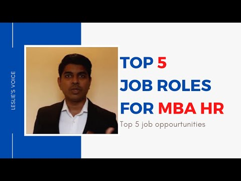 5 Important Career Opportunities for MBA HR  Freshers | Leslie Voice | English Version