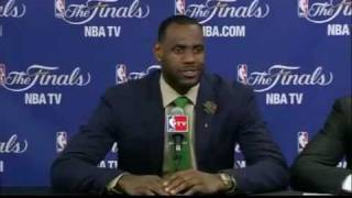 LeBron James dismisses reporter NBA FInals 2011 press conference